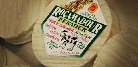 Fromage de Rocamadour par la ferme de Vigne Haute