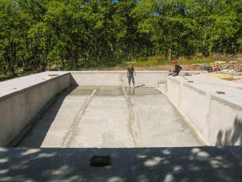 Le chantier de la piscine